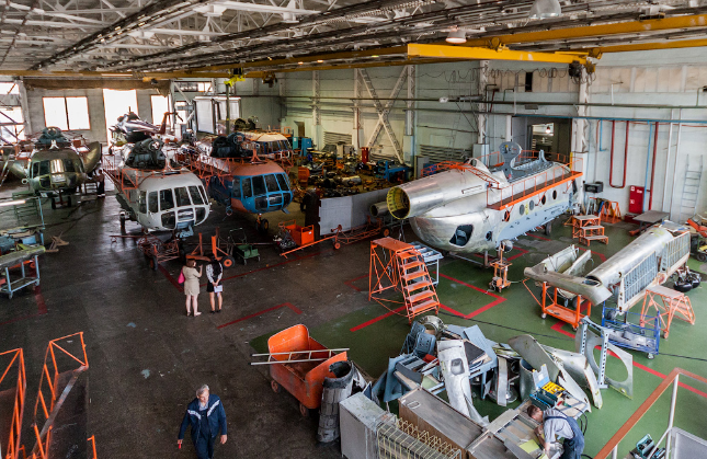 Service center for the repair of helicopters MIL (MI)
